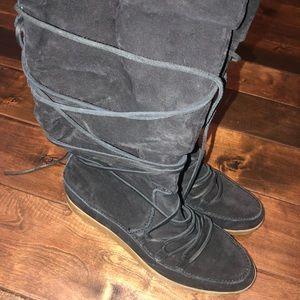 Women's size 7.5 Michael kors black suede boots